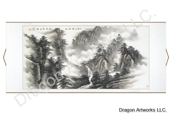 Chinese Landscape Painting of the Noble Yellow Mountains
